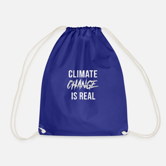 Knut Bags & Backpacks - Climate change is a climate climate disaster - Drawstring Bag royal blue