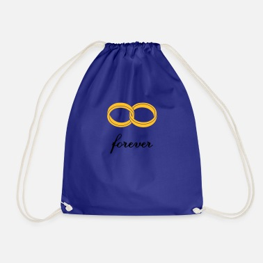 Loving Comment Day wedding rings forever - Drawstring Bag