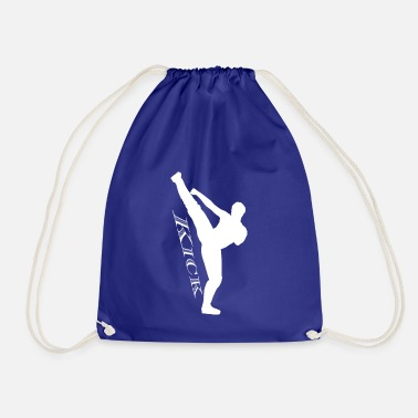 Kick High kick Kick white - Drawstring Bag