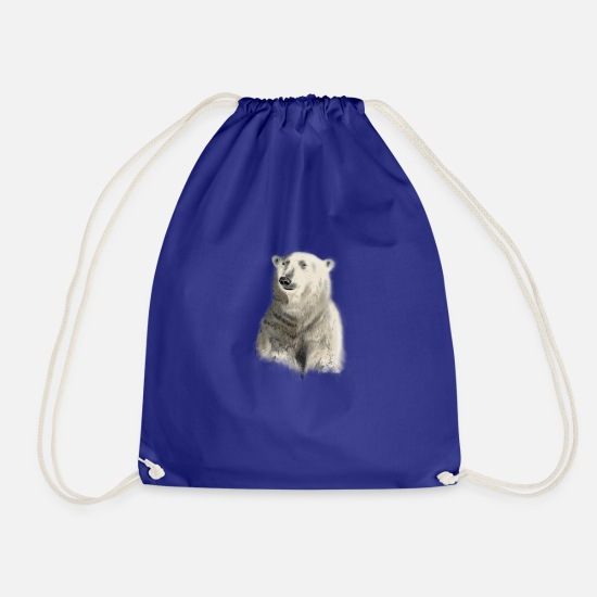 Polar Bear Bags & Backpacks - Polar Bear - Drawstring Bag royal blue