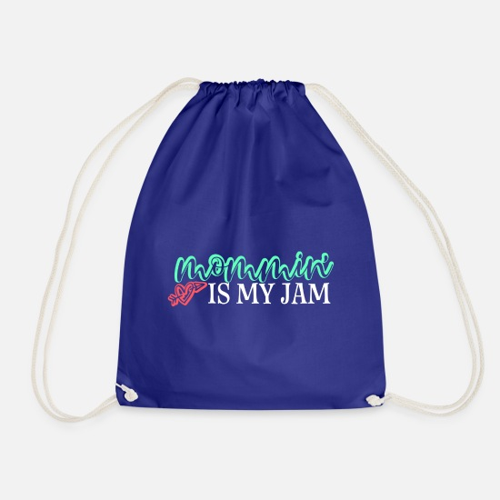 Grappig Tassen & rugzakken - Mommin Is My Jam Gift Mom Mother Mother's Day To - Gymtas koningsblauw