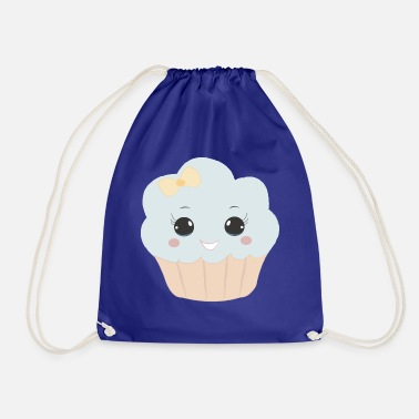 Beady Eyes Cute muffin with ribbon button eyes gift - Drawstring Bag