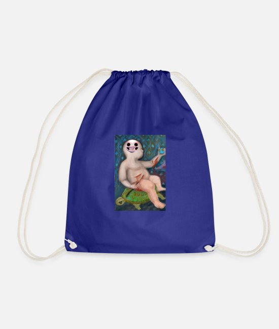 Earth Bags & Backpacks - Suicide baby - Drawstring Bag royal blue