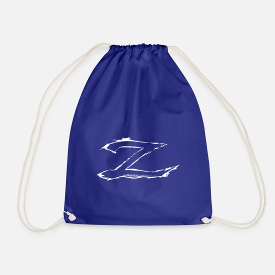 Zorroclassic Bags & Backpacks - Zorro The Chronicles Trademark Letter Z - Drawstring Bag royal blue