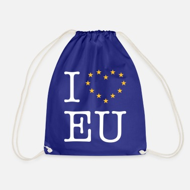 Eu I Love EU (Europe) - Drawstring Bag
