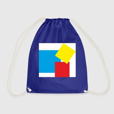 rectangles - Drawstring Bag