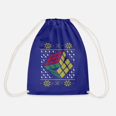 Rubik's Cube Ugly Christmas - Drawstring Bag