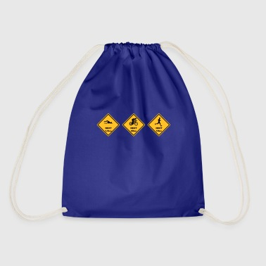 Roadsign Triathlon olyp. Distance Australia Roadsign - Drawstring Bag