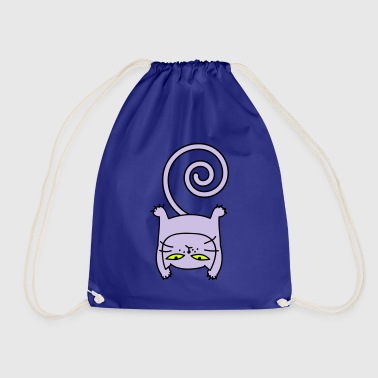 Sporty cat - Drawstring Bag
