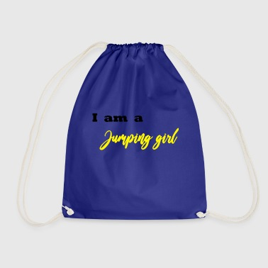 I am a Jumping Girl - Jumping Fitness - Drawstring Bag