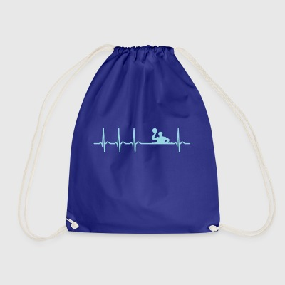 Heartbeat Waterpolo Club Team Club funny Cool - Drawstring Bag