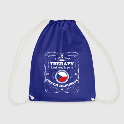 DON T NEED THERAPY WANT GO CZECH REPUBLIC - Drawstring Bag