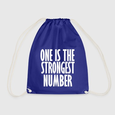 one is the strongest number - Drawstring Bag