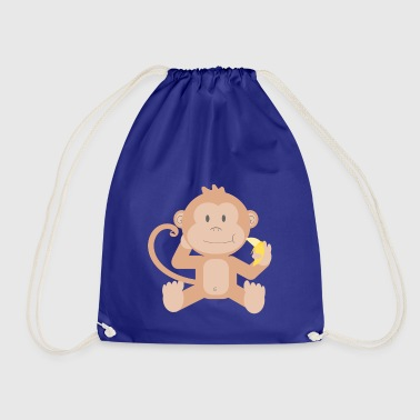 Monkey with banana - Drawstring Bag