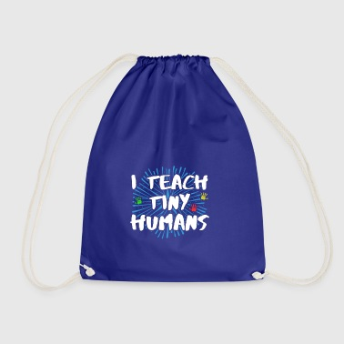 Cute I Teach Tiny Humans Kindergarten Teacher - Drawstring Bag