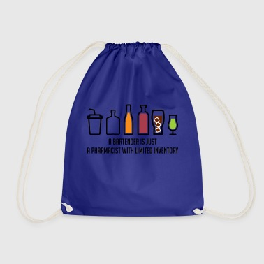 Pharmacy / Pharmacist: A Bartender Is Just A - Drawstring Bag