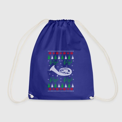 Baritone Ugly Christmas musical instrument - Drawstring Bag
