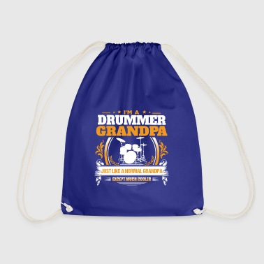 Drummer Grandpa Shirt Gift Idea - Drawstring Bag