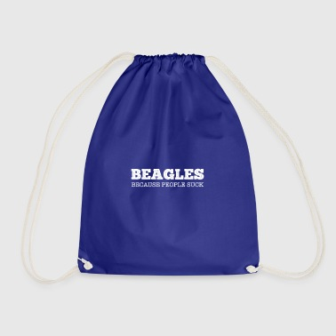 People Suck gift for Beagle Lovers - Drawstring Bag