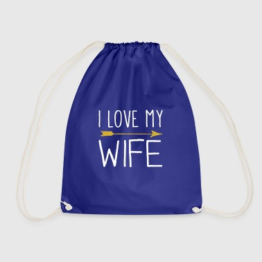 I Love My Wife With Tribal Arrow Romantic - Gymtas