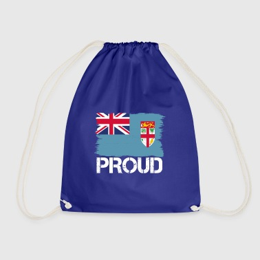 Pride flag flag home origin Fiji png - Drawstring Bag