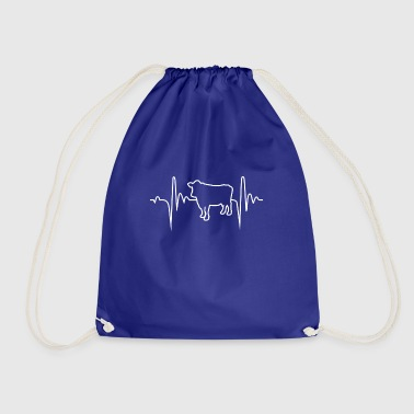 Cow 1 Hobby Heartbeat Gift - Drawstring Bag
