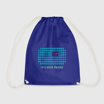 Water Molecule Diver - Drawstring Bag