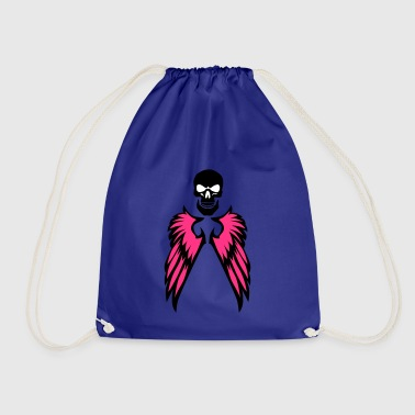 wing ok skull crane 2 - Drawstring Bag