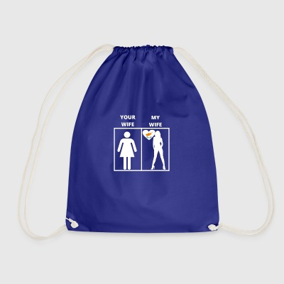 Cyprus gift my wife your wife - Drawstring Bag
