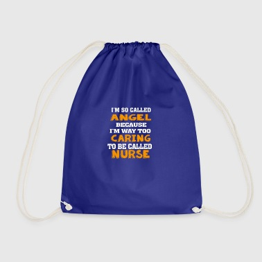 Angel Caring Nurse - Drawstring Bag