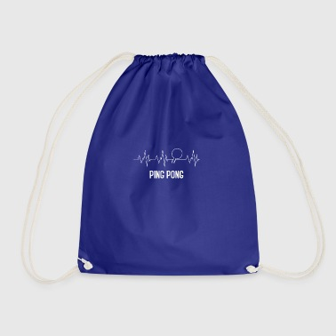Heartebeat pingpong - Drawstring Bag