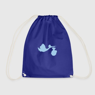 Stork with baby - Drawstring Bag