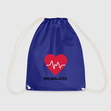heart Milwaukee - Drawstring Bag