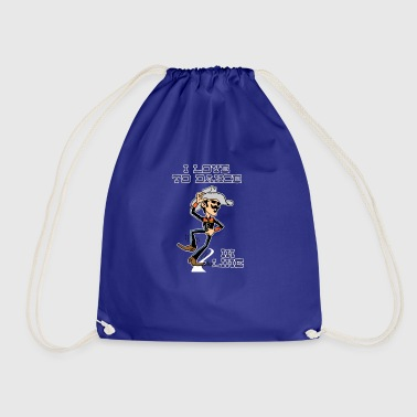 I love to dance in line road - Drawstring Bag