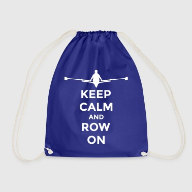 keep calm and row on club rowing Boot - Drawstring Bag