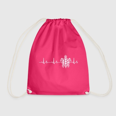 Heartbeat - turtle - Drawstring Bag