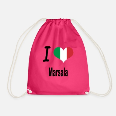 Marsala I Love Italy Home Marsala - Drawstring Bag