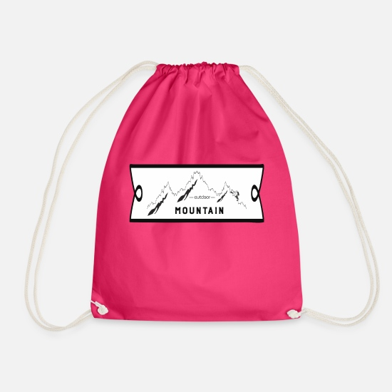 Shield Bags & Backpacks - mountain - Drawstring Bag fuchsia