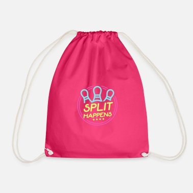 Split Split Happens - Drawstring Bag