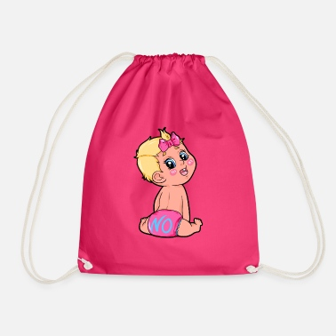 Toddler Toddler baby diaper loop - Drawstring Bag