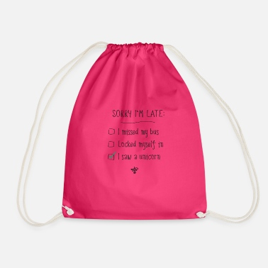 sorry excuse excuse me - Drawstring Bag