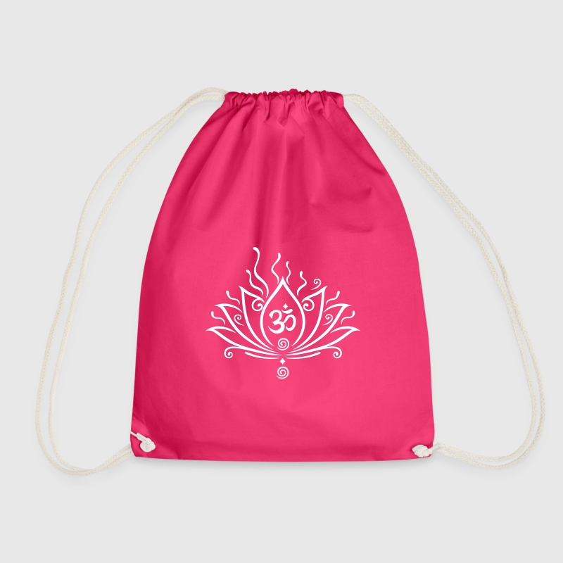 Lotus flower yoga with om symbol by christine krahl spreadshirt mightylinksfo