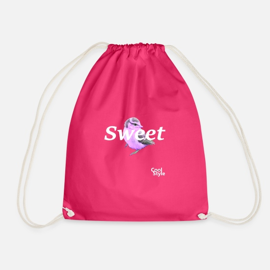 Animal Bags & Backpacks - Sweet - Drawstring Bag fuchsia