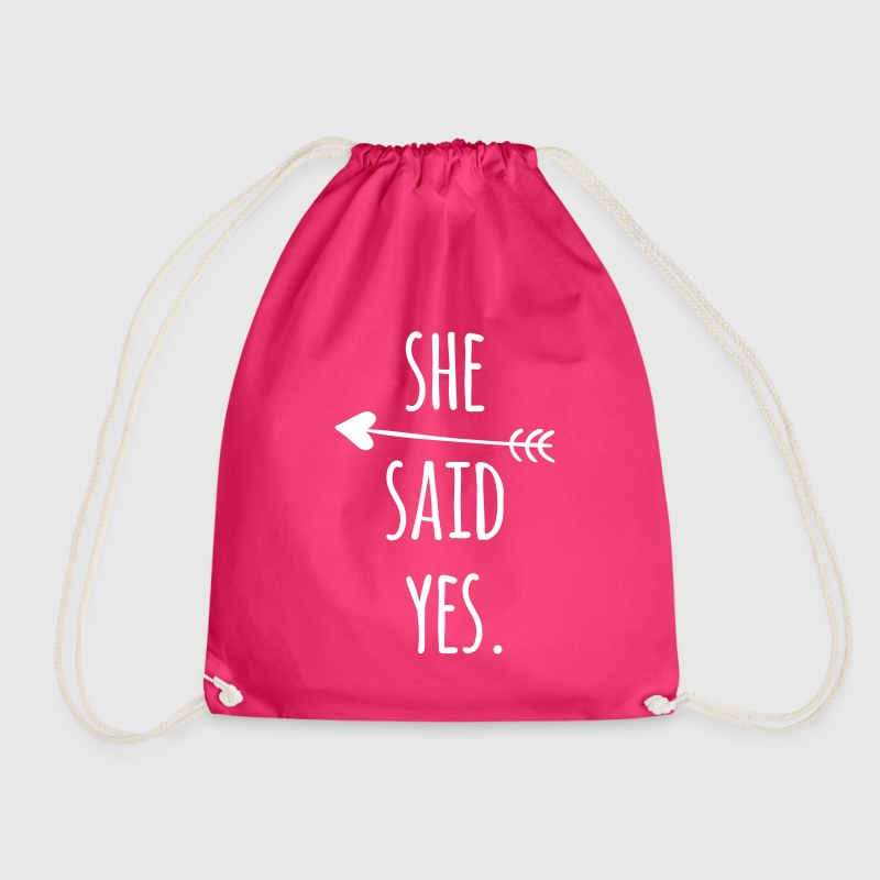 Hen Party: She said yes - Drawstring Bag