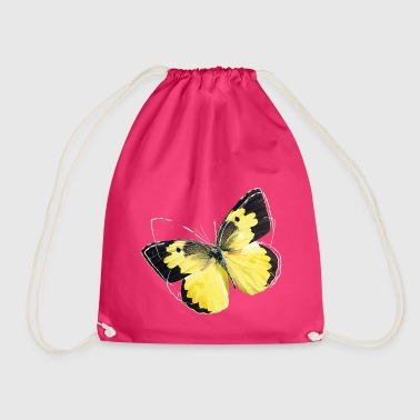 Animal Planet Colourful Butterfly And Lineart - Drawstring Bag