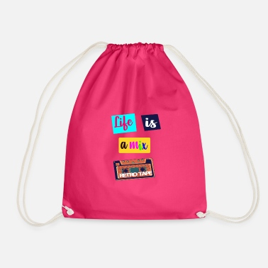 Tape Cassette Tape Design - Drawstring Bag