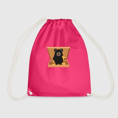Grizzly in Pizzabox - Drawstring Bag