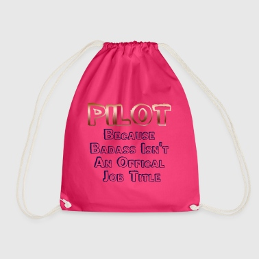 Badass Pilot - Drawstring Bag