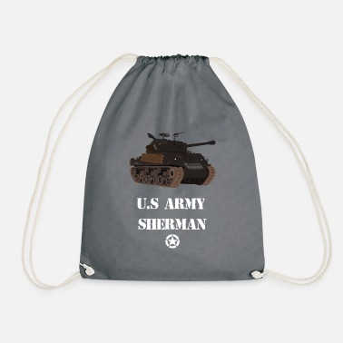 Ww2 Sherman Tank WW2 - Drawstring Bag