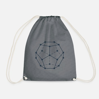 Dodecahedron, Sacred Geometry - Drawstring Bag